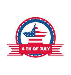4th july independence day american flag star vector