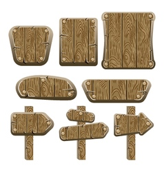 A set of wooden boards panels and signs-2 vector