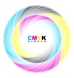Abstract CMYK circle vector image vector image