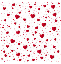 abstract heart pattern background paper red vector image