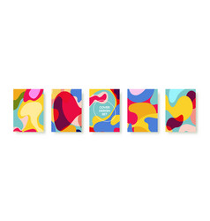 abstract liquid banner template collection vector image