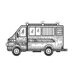 ambulance car sketch vector image