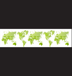 big green world map expanded planet earth globe vector image