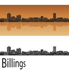 Billings skyline in orange vector