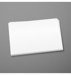 Blank newspaper mockup vector