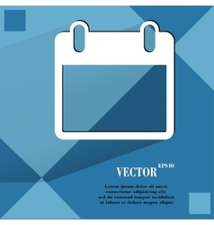 Calendar Flat modern web design on a flat vector image