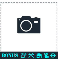 camera icon flat vector image