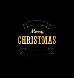 christmas tree card ribbon isolated black vector image
