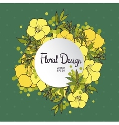Citcle Floral Frame vector image