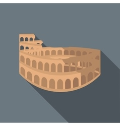 Colosseum in Rome icon flat style vector