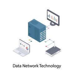 Data network technology vector