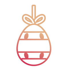 easter egg pendant with stripes and dots des vector image