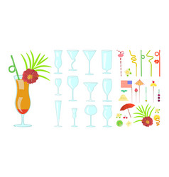 exotic cocktail drink creator vector image