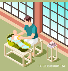Fathers on maternity leave vector