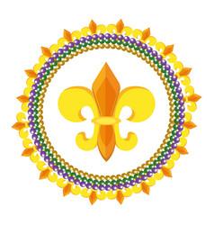 fleur de lis icon vector image