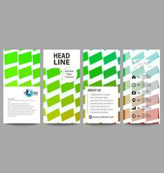 Flyers set modern banners business templates vector