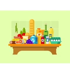Food set on the table vector image