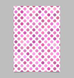 geometric dot pattern background brochure template vector image