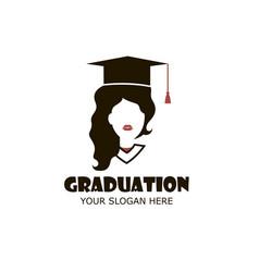 Graduate girl vector