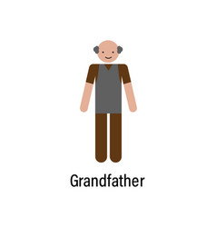 grandfather family icon can be used for web vector image
