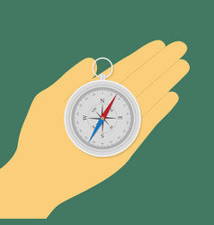 hand with compass vector image