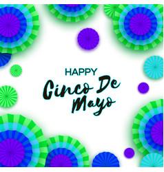 Happy cinco de mayo greeting card colorful neon vector