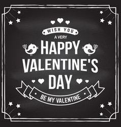 happy valentines day stamp badge card vector image