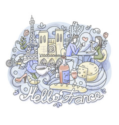 hello france romance vector image