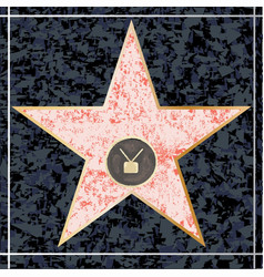 Hollywood tv walk fame vector