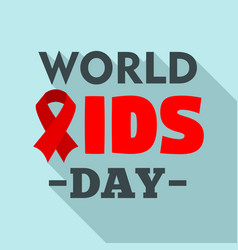 international aids day logo set flat style vector image