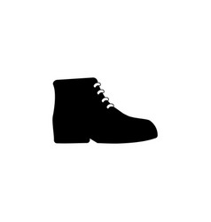 mens boots icon on white background clothing or vector image