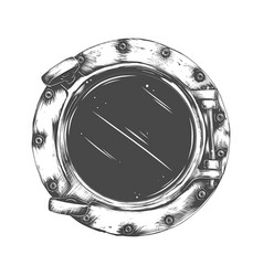 Metal porthole vector