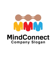 Mind Connect Design vector image