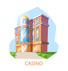 modern casino building exterior view architecture vector image