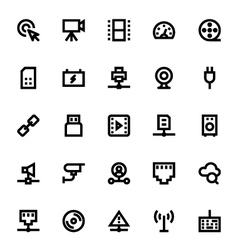 Network Technology Icon 2 vector image