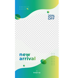 New arrival product discount promotion vector