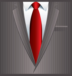object grey man suit vector image