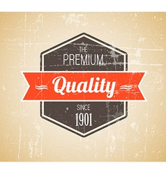 Old dark retro vintage grunge label vector image