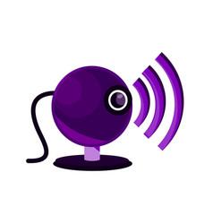 online activities webcam video internet vector image