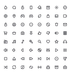 Outline icons for web and mobilethin stroke icons vector