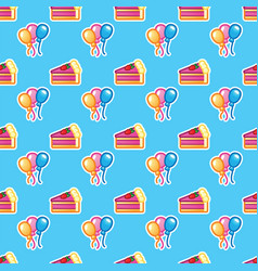 pattern piece of cake for celebration birthday vector image