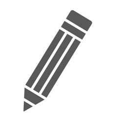 Pencil glyph icon tools and design pen sign vector