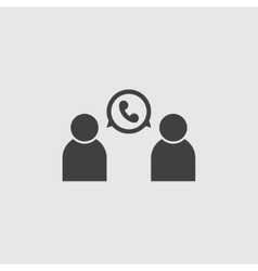 Phone conversation icon vector