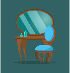 pier glass console mirror with chair and table vector image