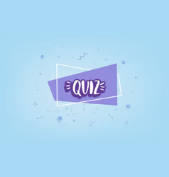 Quiz card vector