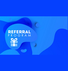 referal design promotion gradient shapes vector image