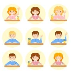 Schoolchild avatar vector