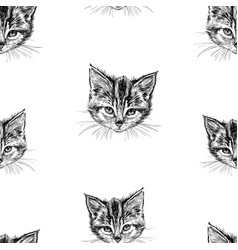 seamless background sketches head of vector image