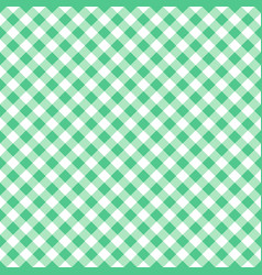 Seamless green classic table cloth texture vector