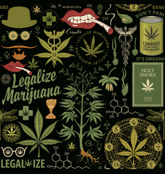 Seamless pattern for a legalize marijuana vector
